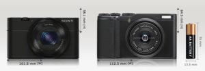 SONY RX100とFUJIFILIM XF10のサイズ比較