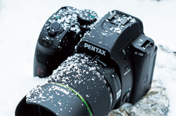 雪に埋もれてたペンタックスK-70