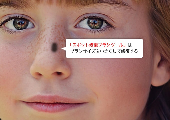 鼻の部分を修復