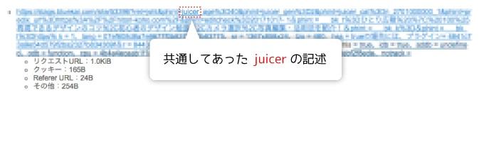 juicerの記述