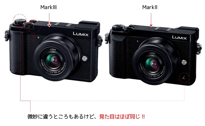 LUMIX GX7 mark3とmark2の外観