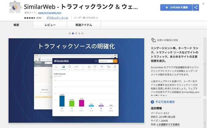 similarwebアプリ