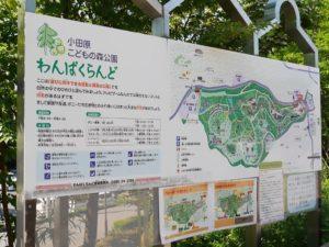 小田原こどもの森公園わんぱくらんど看板