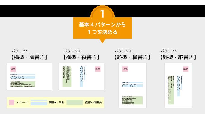 名刺の基本4パターン
