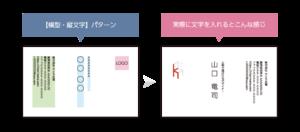 横型・縦文字名刺のレイアウト例
