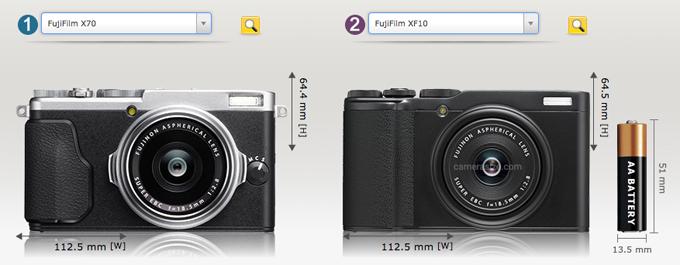 X70とXF10の比較