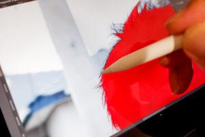 Apple Pencil を使ったマスク処理